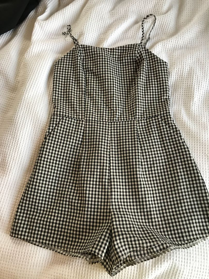 Gingham playsuit size 8