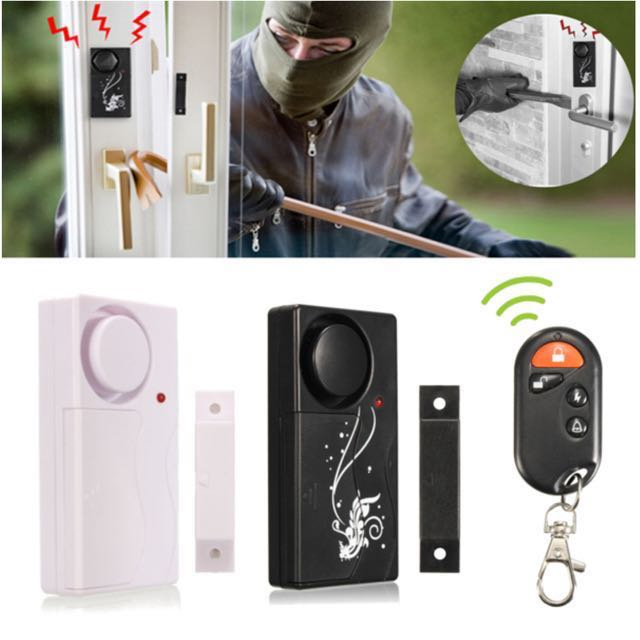 Door Window Entry Home Security Wireless Remote Control Magnetic Sensor Alarm