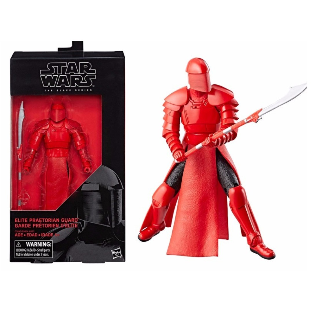 Star Wars Black Series 6 inches figures elite Praetorian Guard total length of a