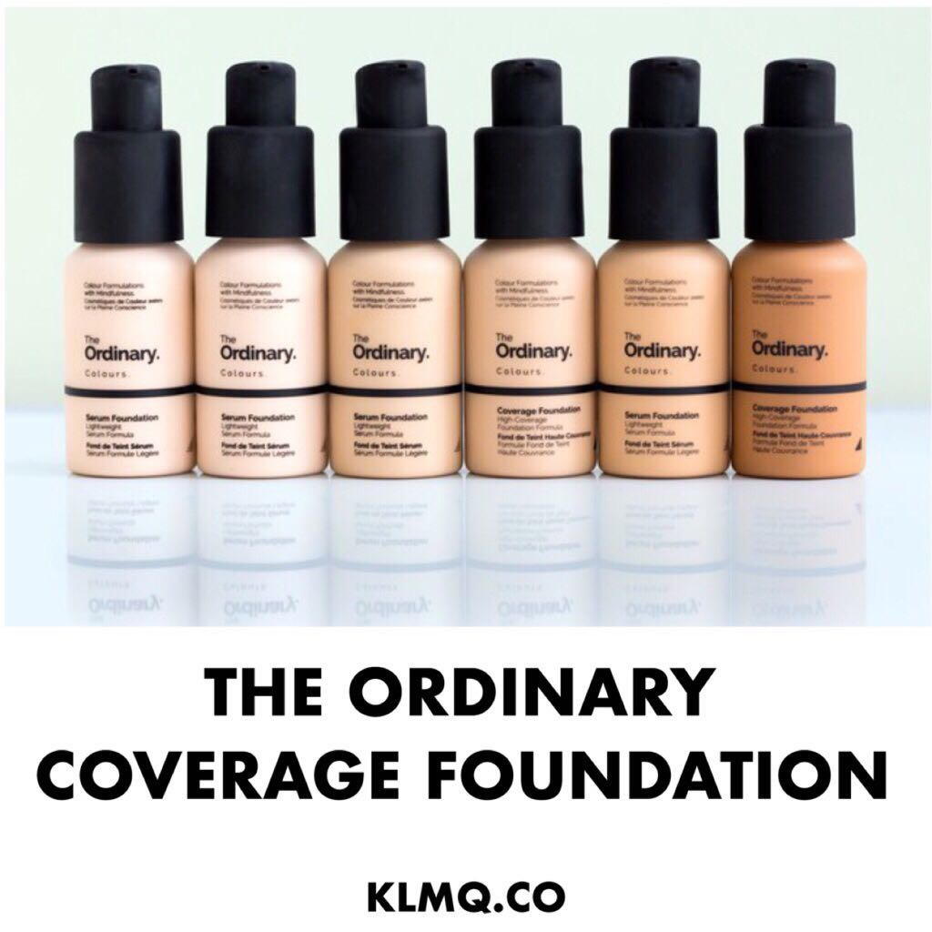 Instock The Ordinary Coverage Foundation Health Beauty Makeup On Carousell