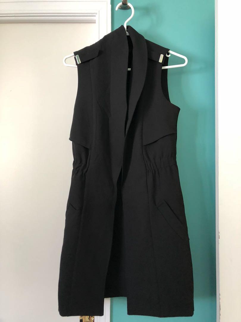 Long Black Vest from Dynamite