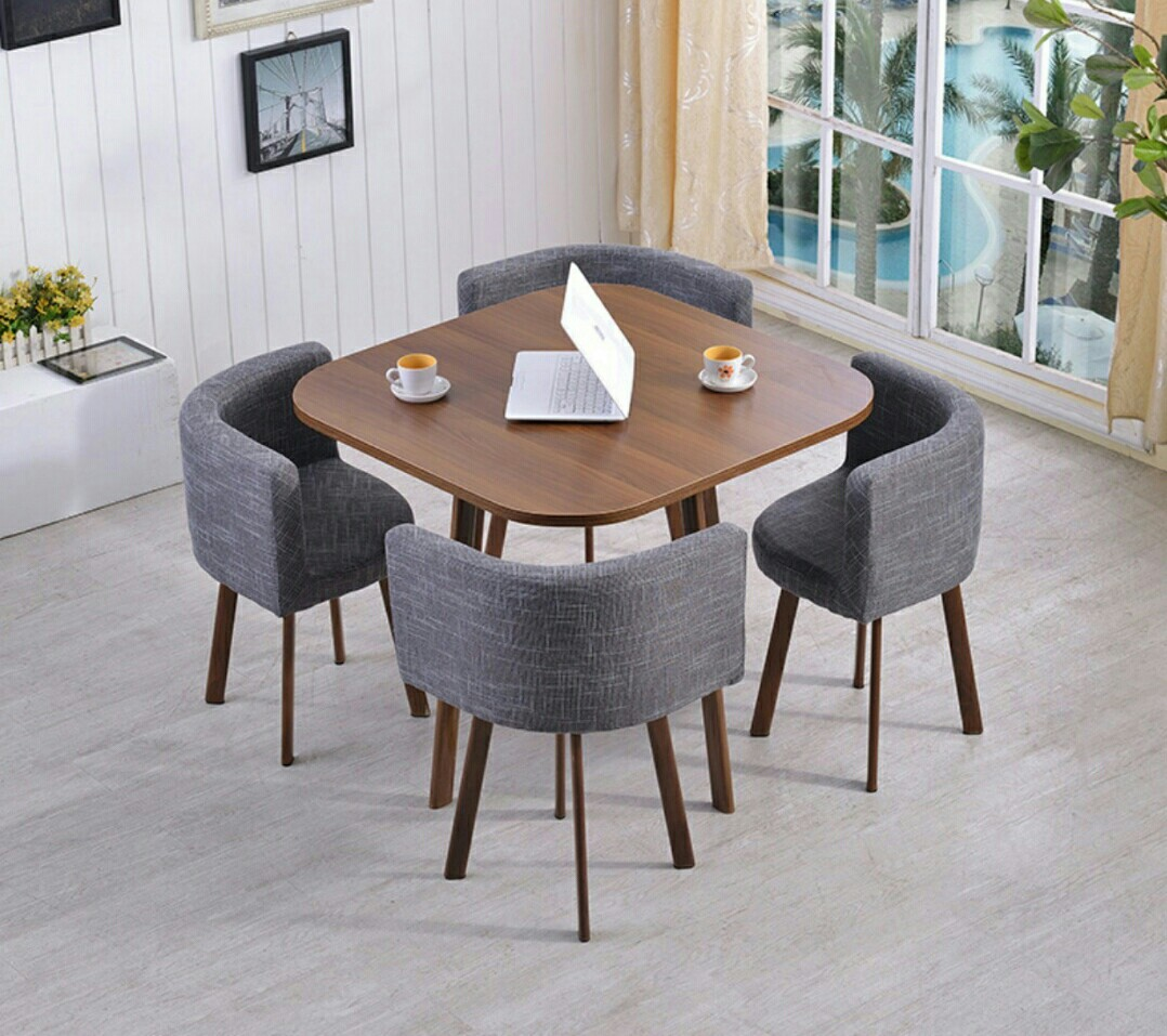 Modern Contemporary Space Saving Square Dining Set Furniture Tables Chairs On Carousell