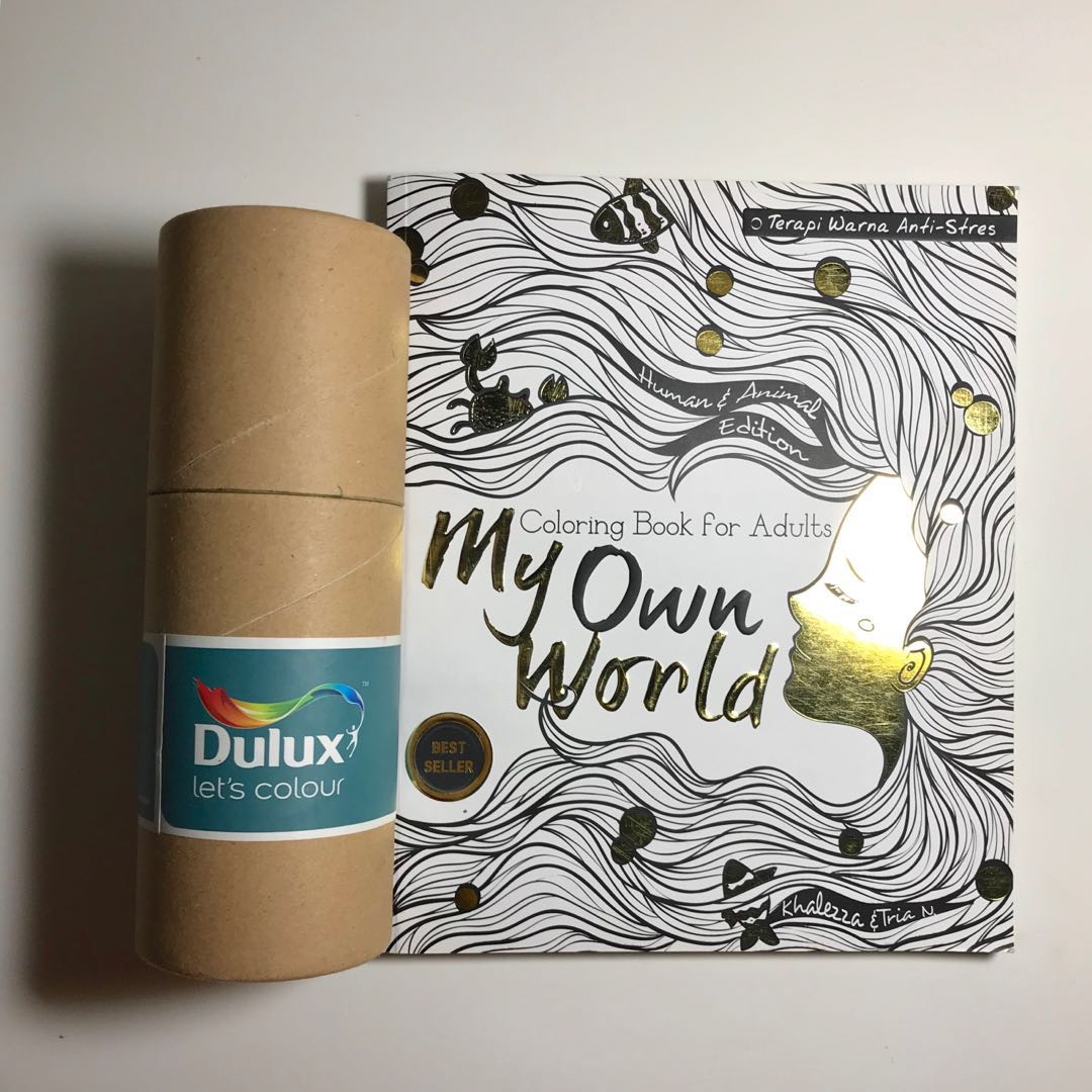 My Own World Adult Coloring Book Buku Mewarnai Bonus Pensil Warna Alat Tulis Di Carousell
