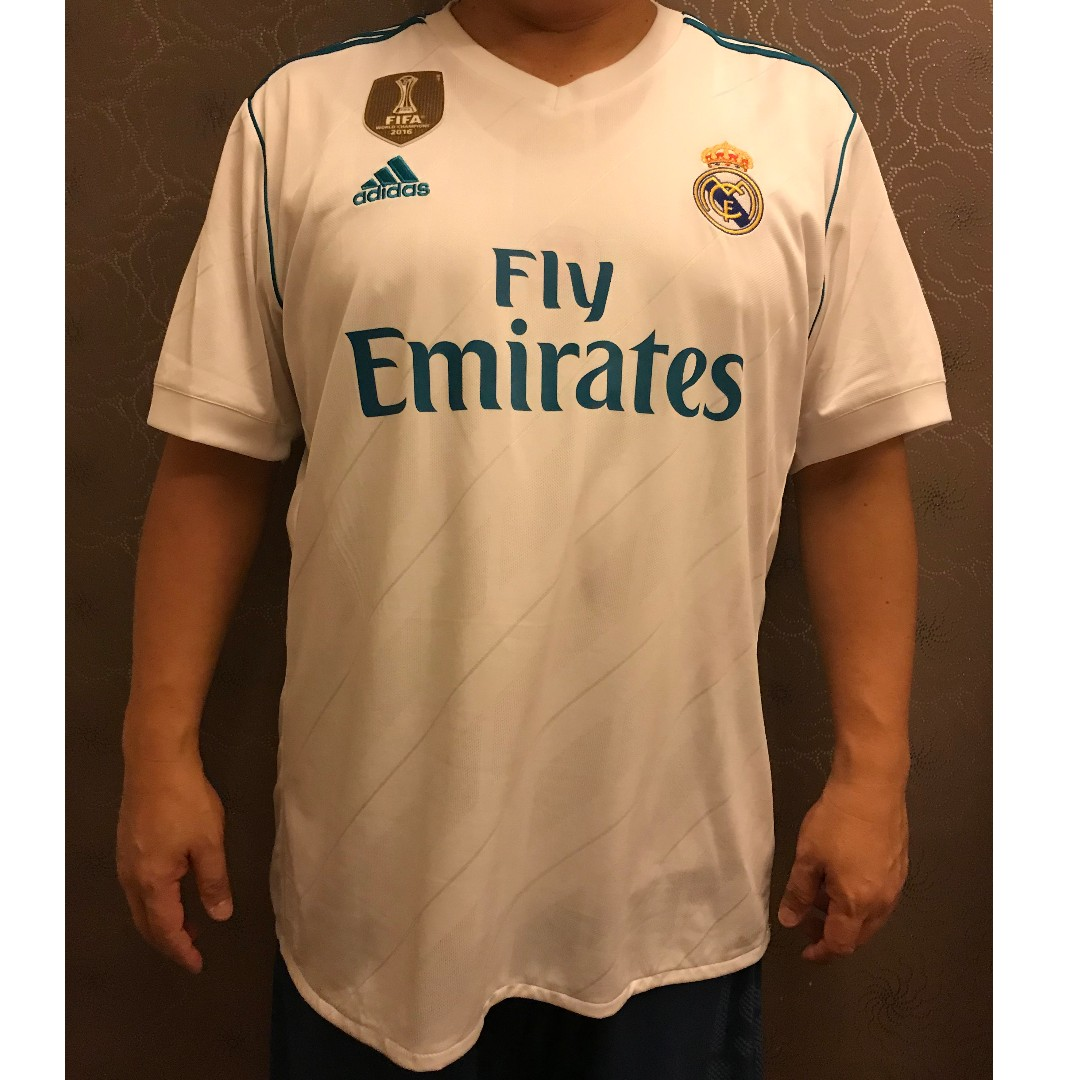 03e29d1f2b3 REAL MADRID HOME JERSEY 2017   18 FULL SPEC PATCH UCL