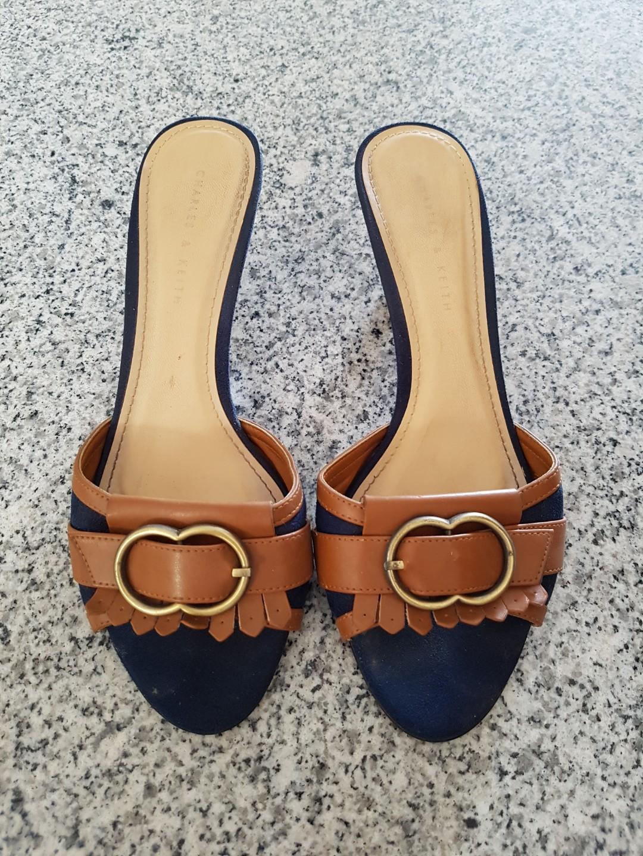 Sandal wanita Charles   Keith original medium heela coklat sz 37 ... 891885d811
