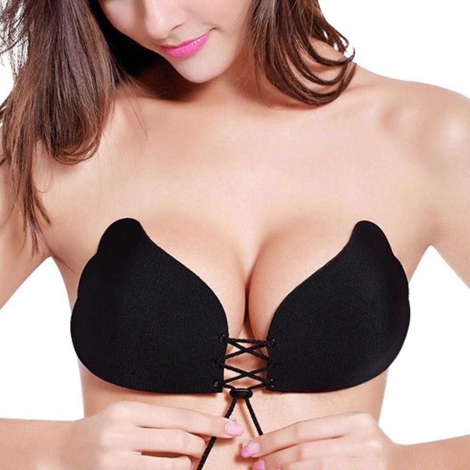 Self adhesive push up bra