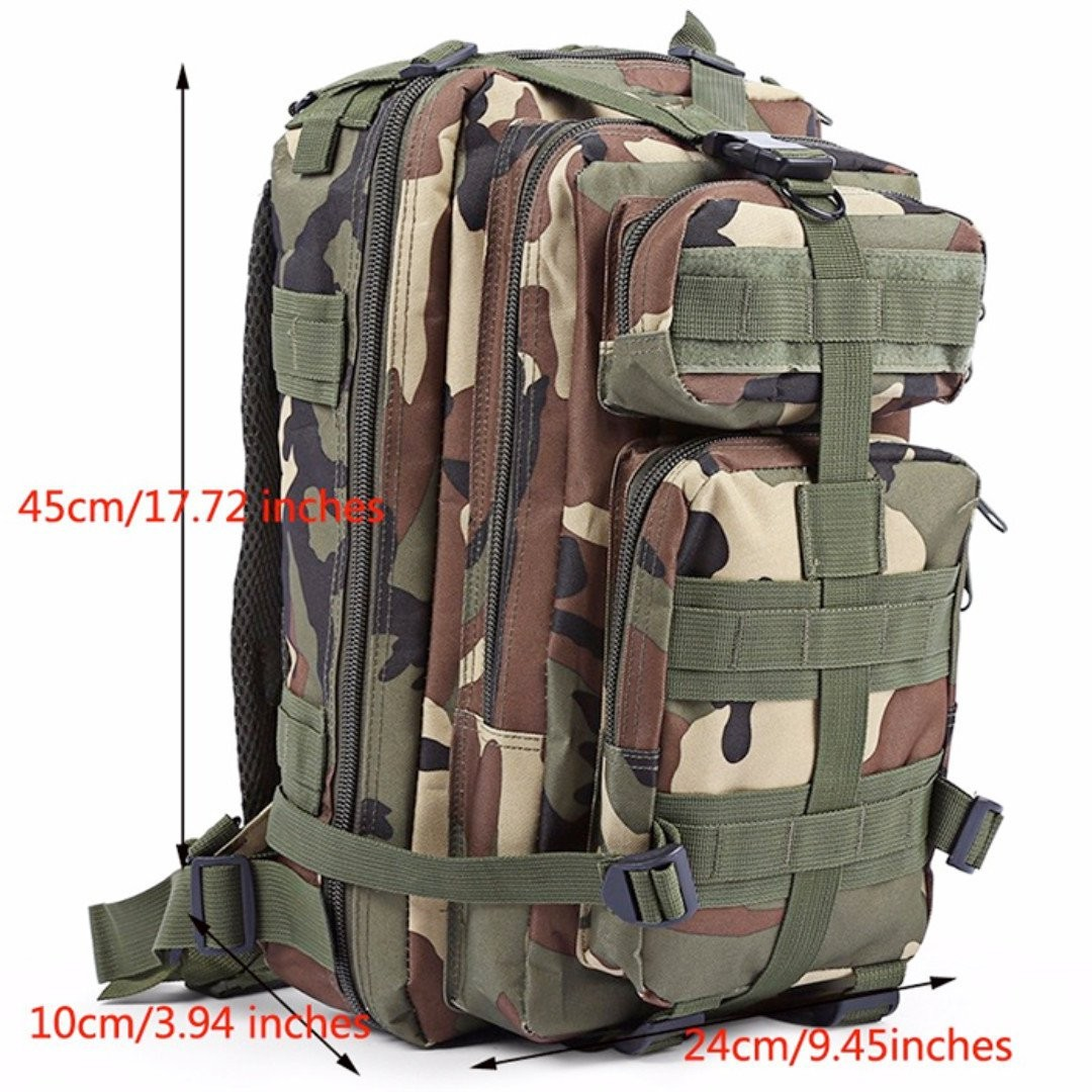 *STYLISH* Military Tactical Backpack Haversack. Outdoor Camouflage Army Backpack Bag. Rucksack Bag for Outdoor, Trekking, Camping