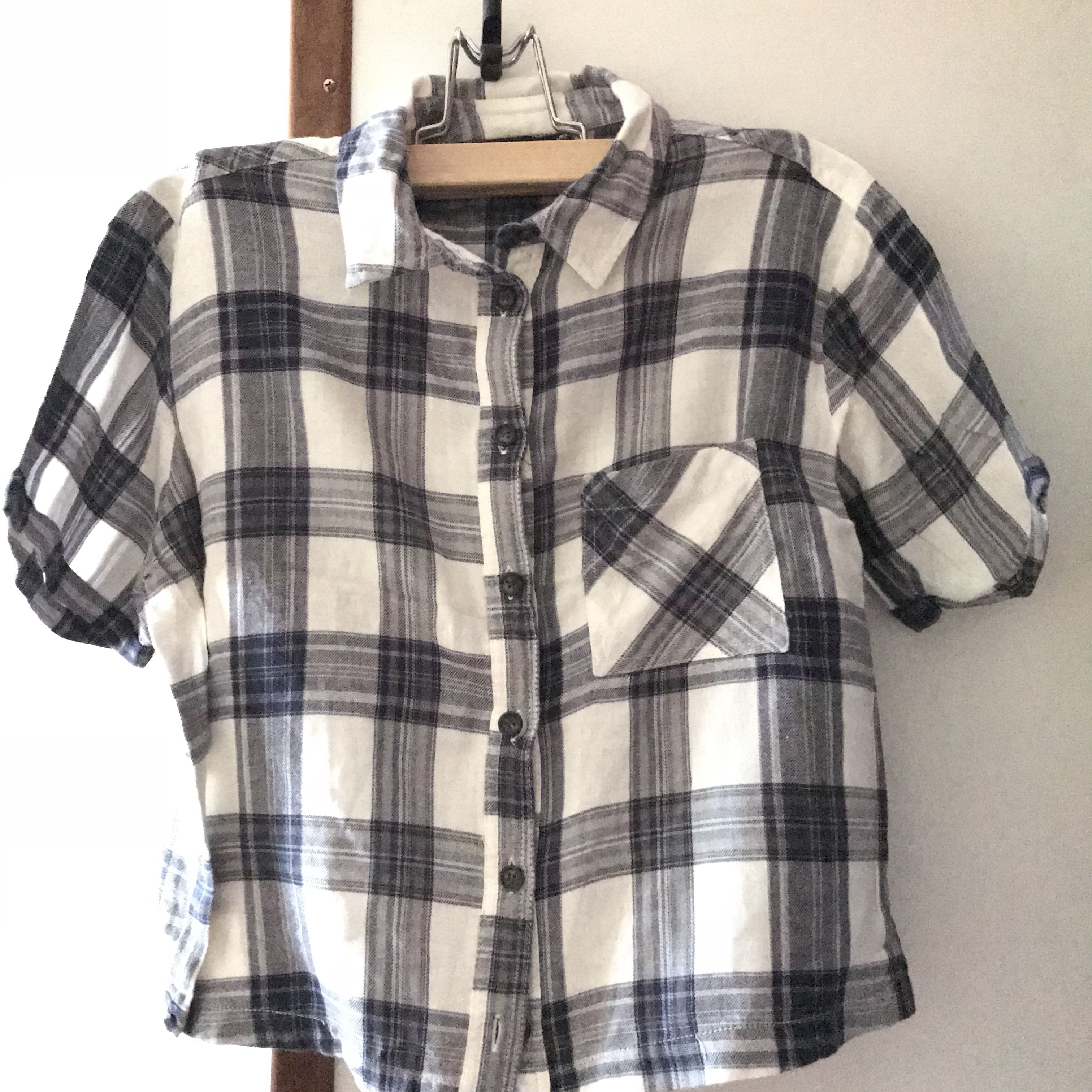 37614ad8f6ee23 Womens Blue And White Plaid Shirt – EDGE Engineering and Consulting ...