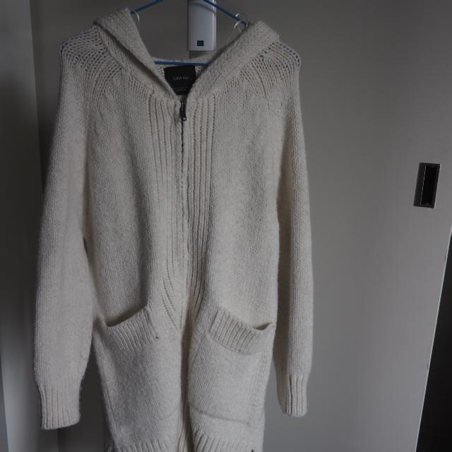 Zara Knit White Outerwear