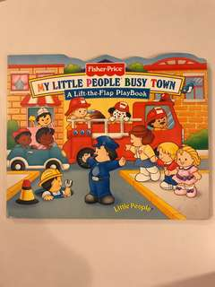 Fisher-price lift the flap book -My Little People Busy Town