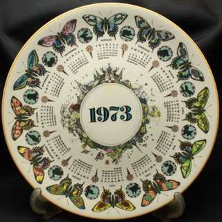 "1973 - WEDGWOOD CALENDAR PLATE - ""Bountiful Butterfly"""