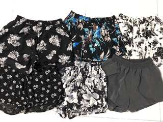 Printed Elastic shorts