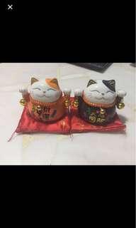 Fortune cat piggy bank