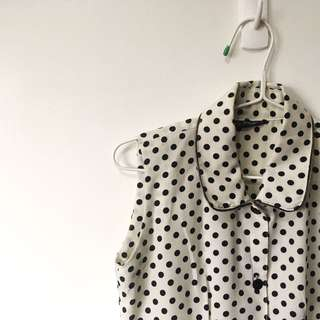 Vintage Polka dot Button Down Top
