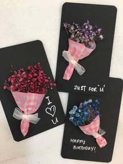 Flower Bouquet bookmark / gift card