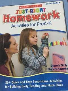 Scholastics Activities for PreK - K