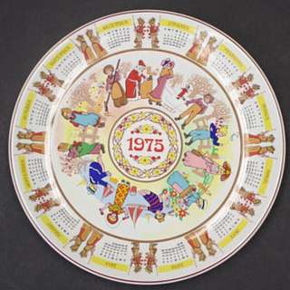 "1975 - WEDGWOOD CALENDAR PLATE - ""Children's Games"""