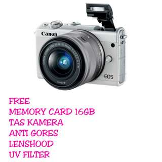 Canon EOS M100 Kit 15-45MM IS STM + Bonus Paketan