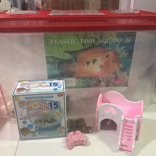 Fish tank and hamster toy