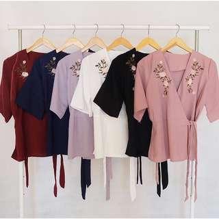 Zara embroidery kimono