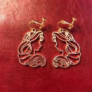 Disney Rapunzel Earrings 長髮公主耳夾
