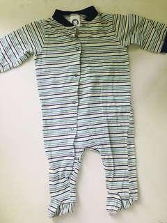 Gerber 100% cotton longsleeves snap buttons onesie