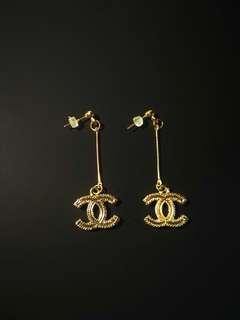Chanel Earrings 長耳環 金/銀色