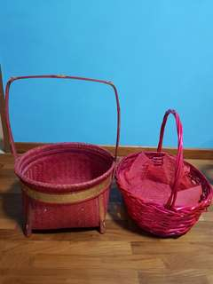 Red Hamper Baskets for Gifts, Wedding Guo Da Li 过大礼