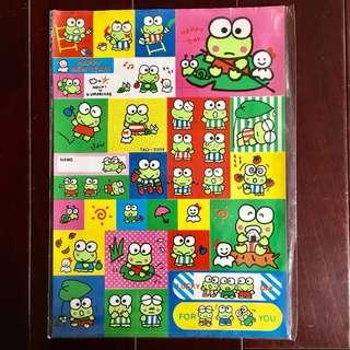 大眼蛙 三麗鷗 貼紙 日本製 厚版 反光
