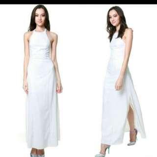 MDS White Maxi Dress