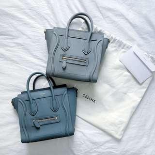 CELINE Luggage Bag Nano Size Kohl & Slate