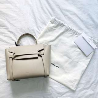 CELINE Belt Bag Micro Size morning in Light Taupe