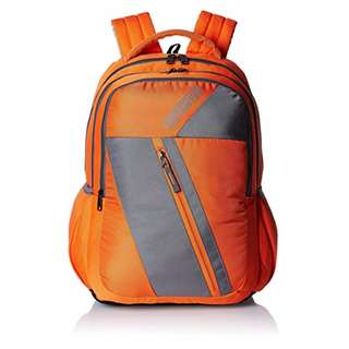 American Tourister by Samsonite Unisex Large Backpack ; Orange/Grey (BACK2SKUL SUPER SALE)