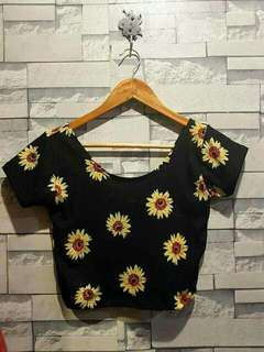 Sunflower printed tops