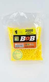 2000pcs 6mm Hard Plastic BB