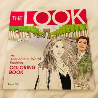 The Look adult fashion coloring book