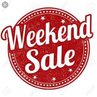 Weekend Sale 18-20 Mei 2018