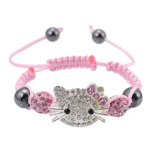 Kids Hello Kitty Shamballa Beads Bracelet