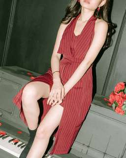 Red Strippy Dress