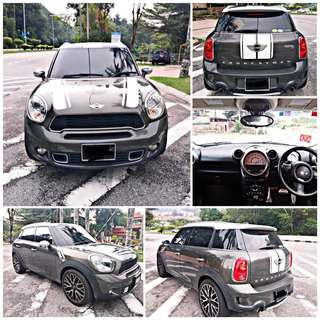 SAMBUNG BAYAR/CONTINUE LOAN  MINI COOPER S COUNTRYMAN AUTO 1.6 YEAR 2012/2016 MONTHLY RM 1700 BALANCE 6 YEARS 10 MONTHS ROADTAX VALID TIPTOP CONDITION  DP KLIK wasap.my/60133524312/countryman