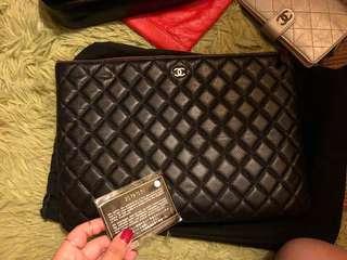 Chanel 牛皮 clutch big size