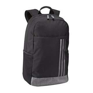adidas Unisex BLACK Medium 3 Stripe Classic Backpack