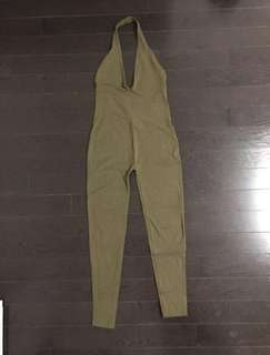 Olive jumpsuit from American apparel