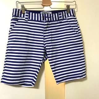 Crossover Blue Striped Shorts