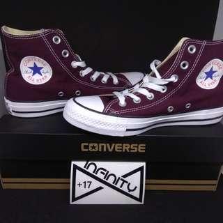 Converse Shoes Original Chuck Taylor All Star Hi Sneakers Maroon