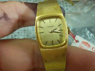 Vintage Orient manual wind watch lady nos