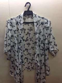 Shear kimono top