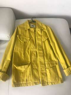 Mustard vintage denim jacket