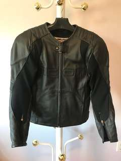 Men's Small Leather Icon Overlord Motorcycle Jacket