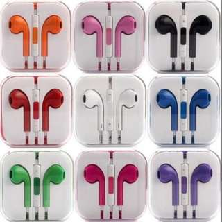 Colored Mic In-Ear Mobile Headset Earphone